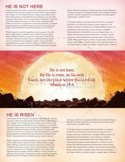 Easter Sunday Resurrection Church Newsletter