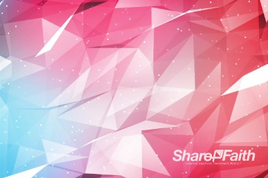 Bright Shifting Polygons Worship Motion Background