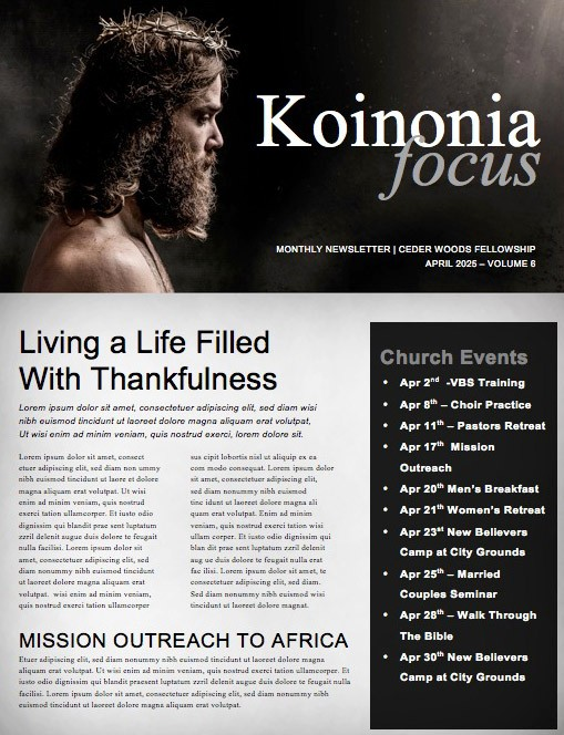 The Love of Jesus Easter Church Newsletter