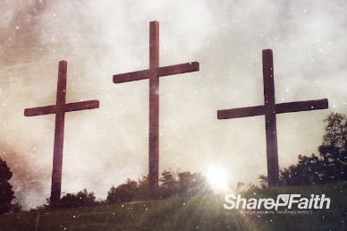 Crosses at Sunrise Worship Motion Background