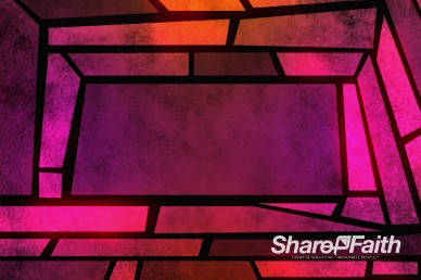 Mosaic Edge Stained Glass Worship Video Loop