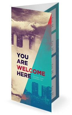 God of this City Church Trifold Bulletin Cover
