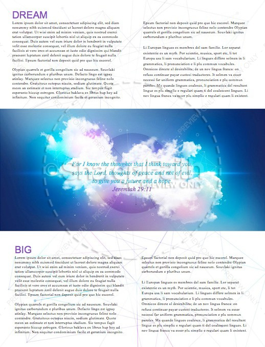 Dream Big Church Newsletter Template | page 2