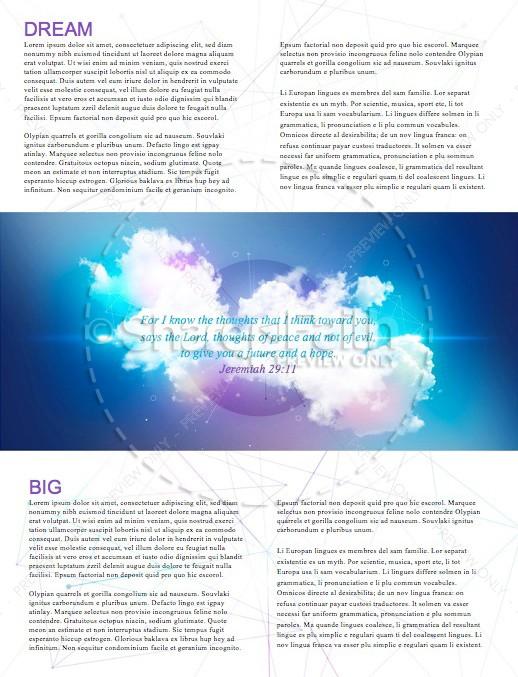 Dream Big Church Newsletter Template