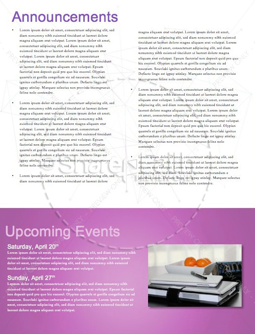 Dream Big Church Newsletter Template | page 4