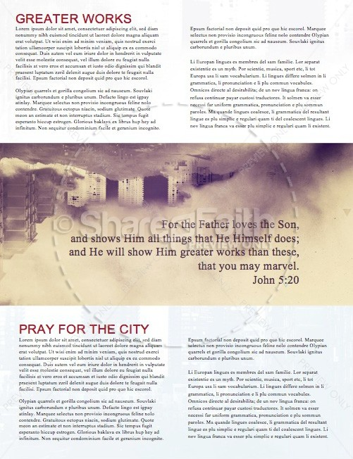 God of this City Newsletter Template
