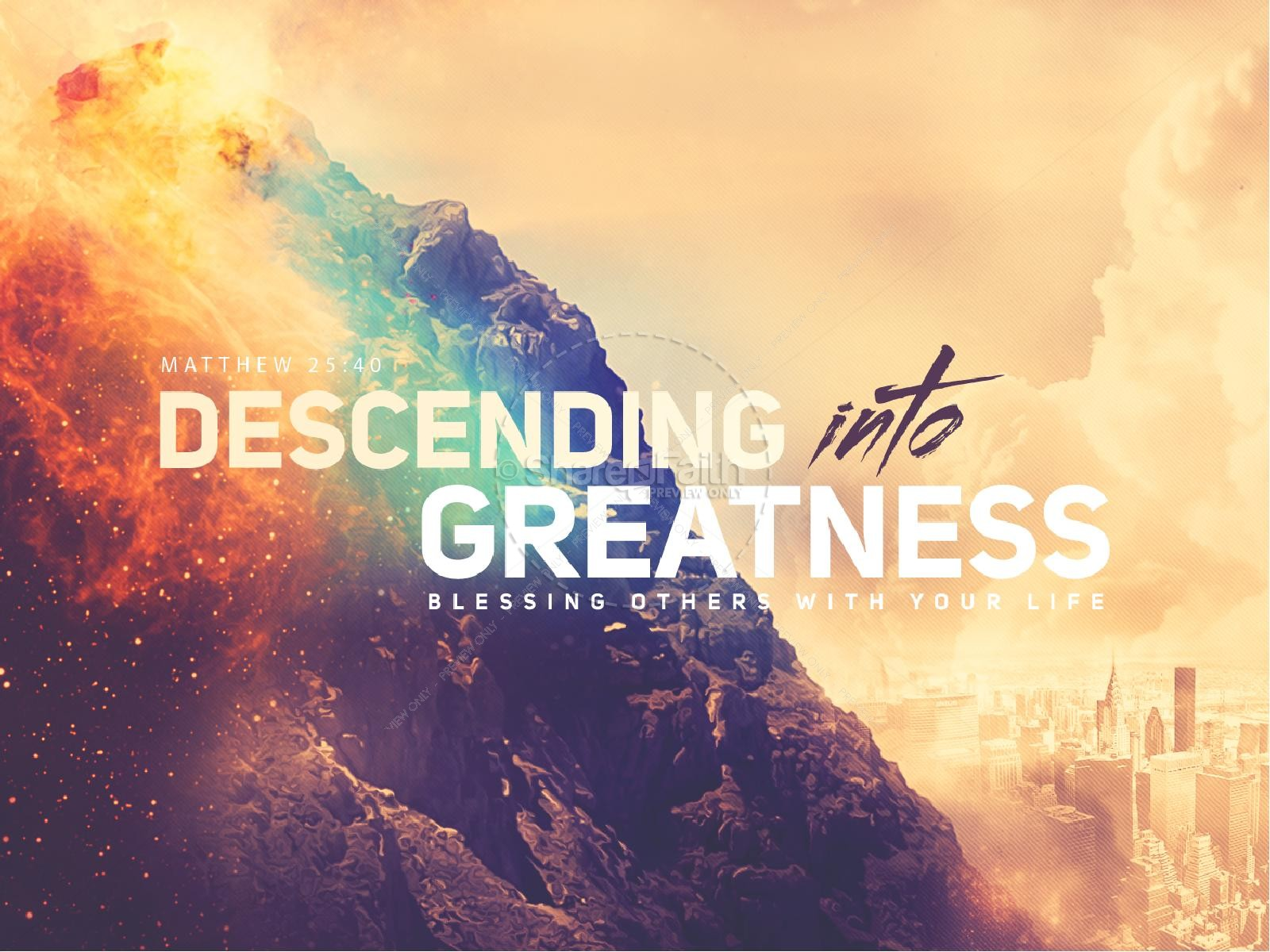 Descending Into Greatness Church PowerPoint | slide 1