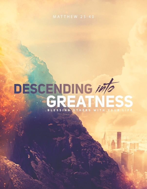 Descending Into Greatness Church Flyer