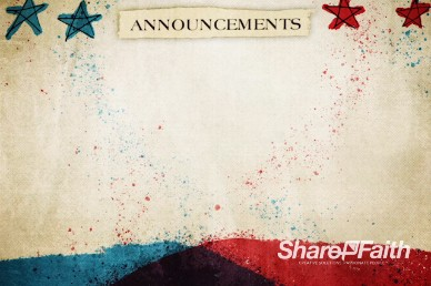 Red, White, and Blue Announcements Video Loop