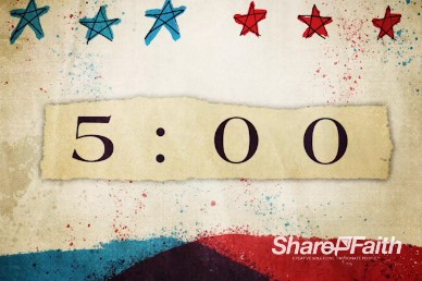 Red, White, and Blue Church Countdown Timer