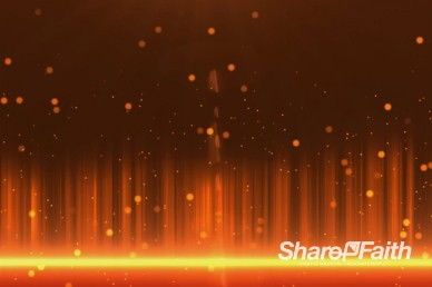 Orange Solar Wave Abstract Worship Video Background