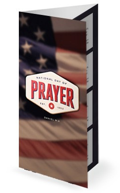 National Day of Prayer Church Trifold Bulletin