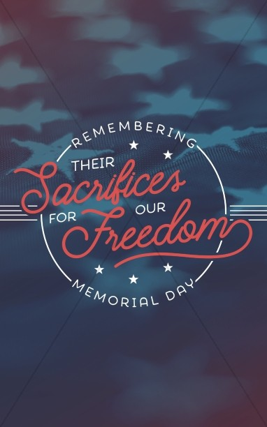 Remembering Their Sacrifices Memorial Day Church Bulletin