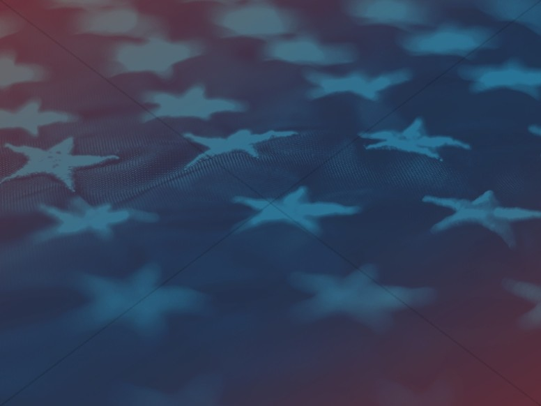 American Flag Stars Church Worship Background