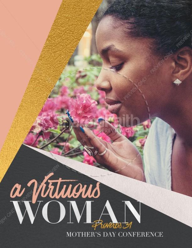 Virtuous Woman Church Flyer