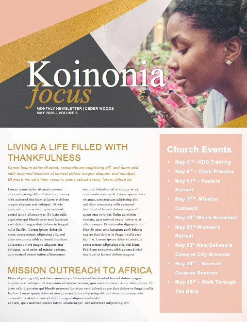 Virtuous Woman Church Newsletter