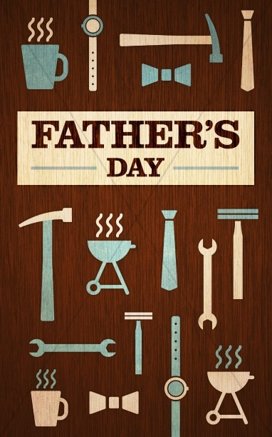 Father's Day Tools and Gear Church Bulletin