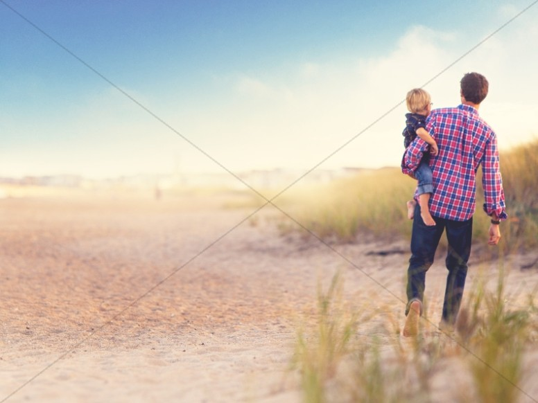 Father's Day Beach Walk Church Worship Background