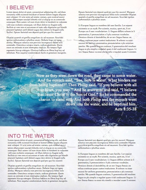 Jump In Baptism Church Newsletter