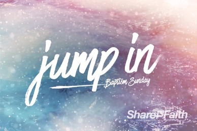 Jump In Baptism Sunday Motion Loop