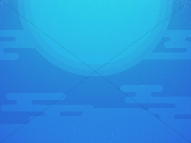 Modern Blue Sun Abstract Worship Background