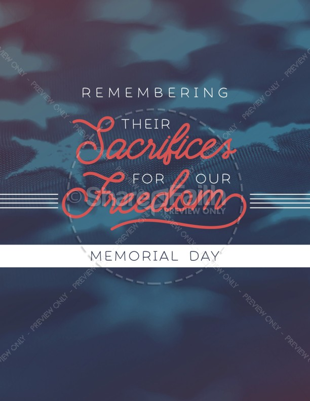 Remembering Their Sacrifices Memorial Day Church Flyer