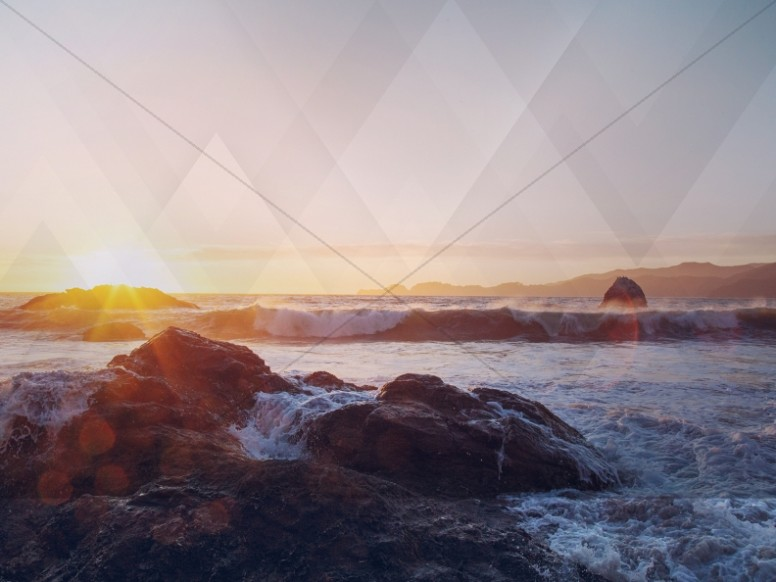 Ocean Waves Worship Background
