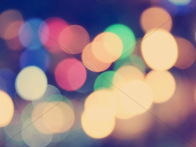 Colorful Bokeh Worship Background