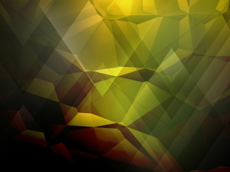 Yellow Geometric Worship Background