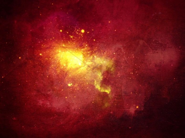 Red Galaxy Worship Background