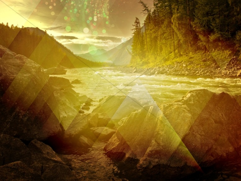 Golden River Stream Worship Background