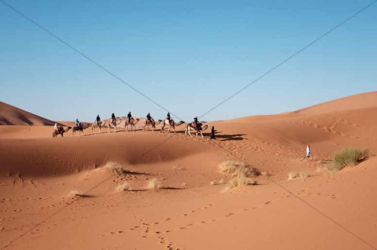 Desert Caravan Ministry Stock Photo