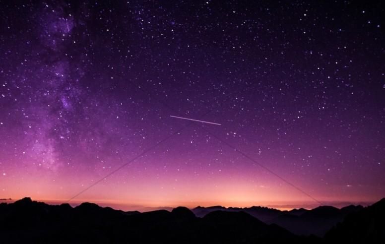 Shooting Star Space Religious Stock Photo
