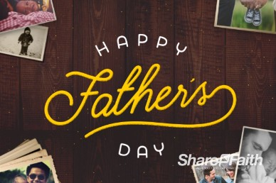Father's Day Photos Title Video Loop