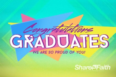 Congratulations Graduation Sunday Title Video Loop