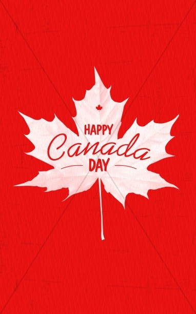 Happy Canada Day Church Bulletin