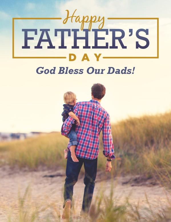 Father's Day Beach Walk Church Flyer