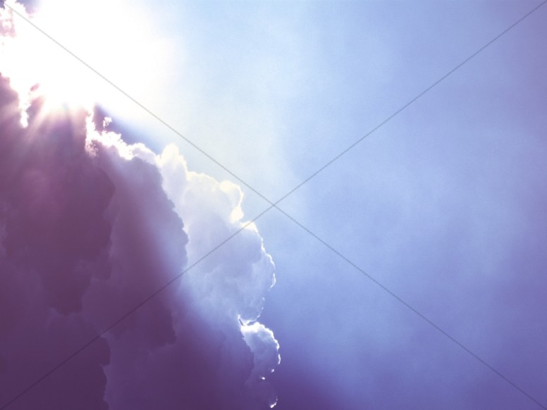 Sunlight Breaking Through the Clouds Worship Background