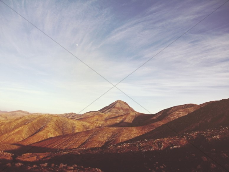 Desert Mountains Religious Worship Background
