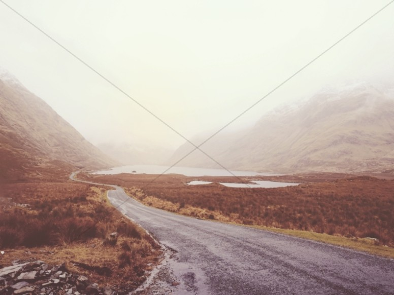Desert Road Through the Mountains Worship Background