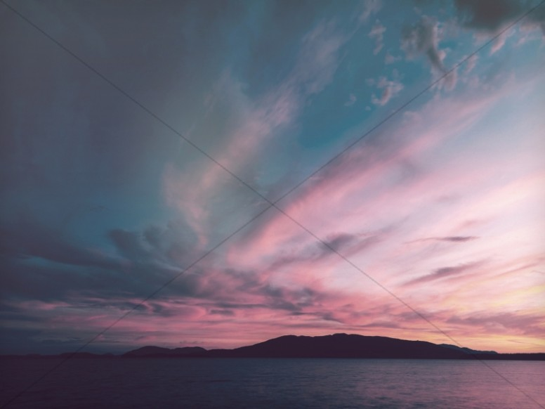 Clouds in the Sunset Sky Religious Worship Background