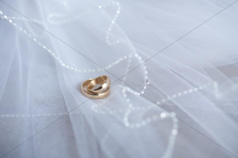 Wedding Bands Religious Stock Photo