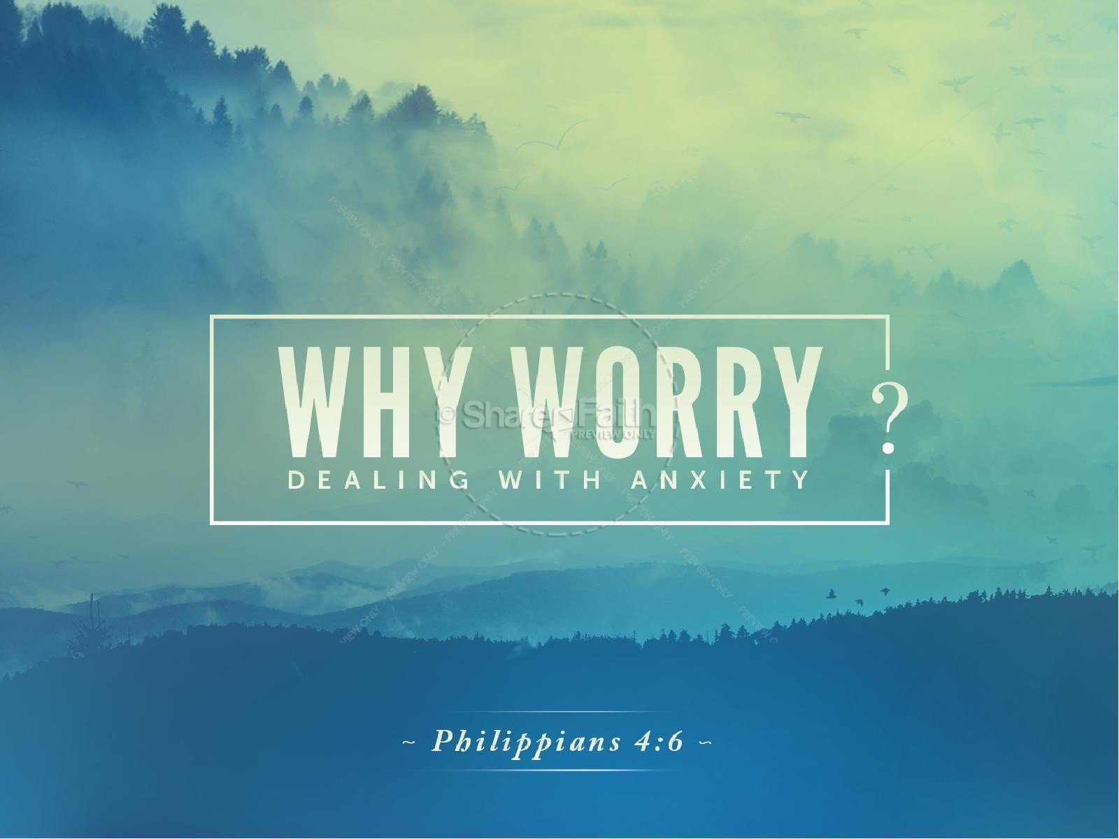 why worry sermon powerpoint | powerpoint sermons, Modern powerpoint