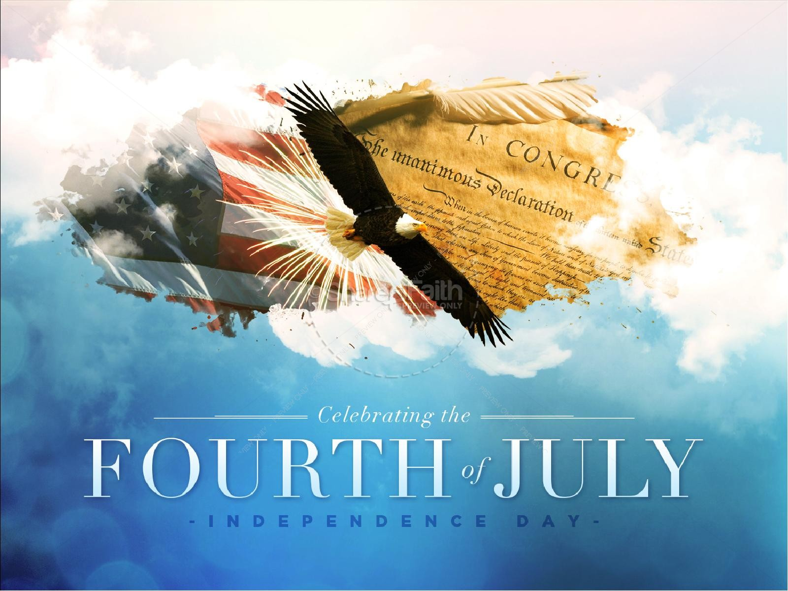 American Independence Day Church PowerPoint