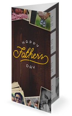 Father's Day Photos Church Trifold Bulletin