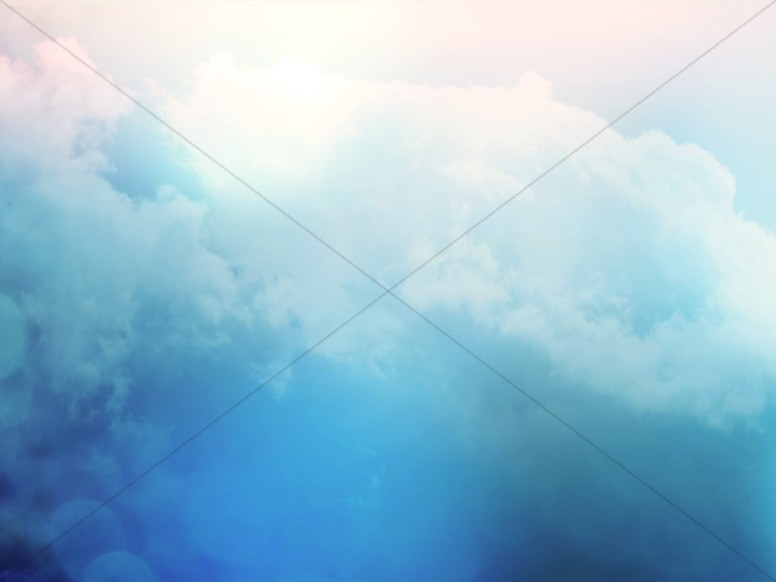 Deep Blue Sky with Clouds Worship Background