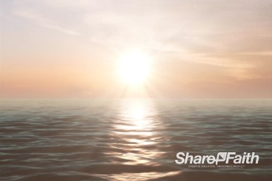 Sunrise Over the Ocean Worship Video Background