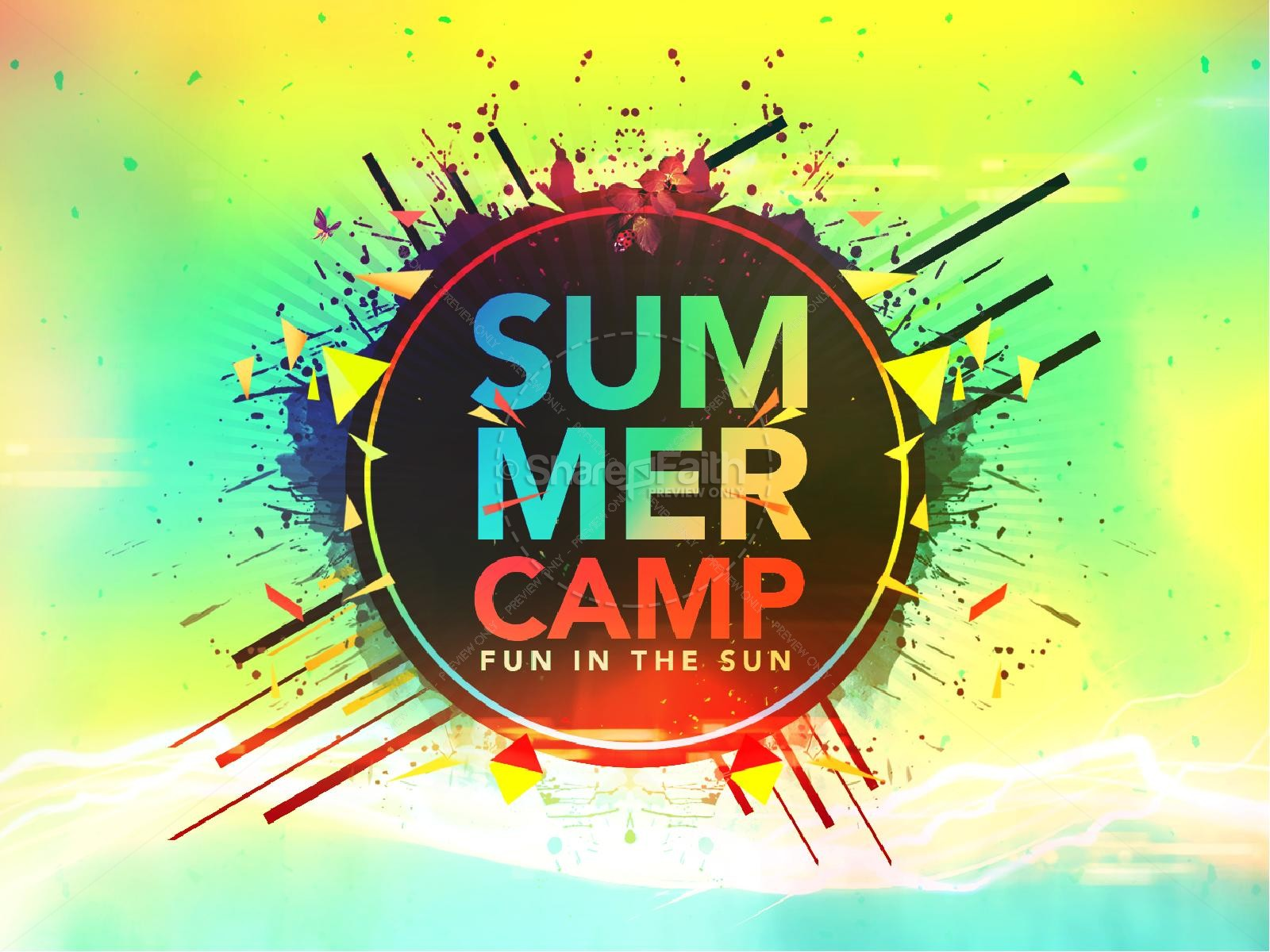 Summer Camp Fun in the Sun Church PowerPoint