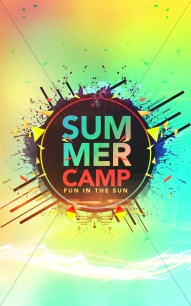 Summer Camp Fun in the Sun Church Bulletin