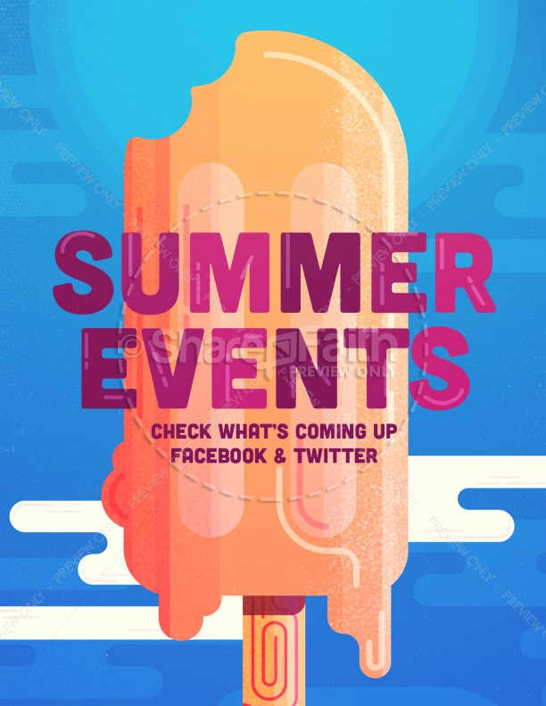 Church Summer Events Flyer
